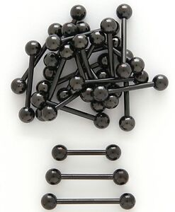 T#183 - 35pc Titanium Barbells Tongue, Nipple Rings 14g Wholesale Body Jewelry