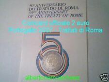 Coin card 2 euro 2007 trattati Roma Portogallo Portugal ToR Португалия
