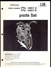 WARDS RIVERSIDE FFA 14017 C / FFA 14017 D PARTS MANUAL / COMOPOLITAN MOTORS