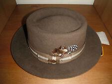 Fur Felt porkpie Hat Furfelt size small