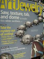 Art Jewelry January 2012 Magazine- Gear Silver Necklace, Casting, Metal Clay