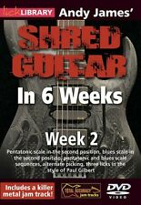 Andy James' Shred Guitar in 6 Weeks Week 2 Lick Library DVD NEW 000393159