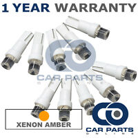 10X T5 286 74 17 18 AMBER DASHBOARD CHECK ENGINE LIGHT SHIFTER CONCAVE LED BULBS