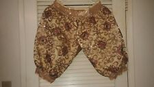 Gorgeous Sequines Beads Harem Pants Hand Made Knee-Length Lrg. Never Woren Excel