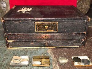Antique Elgin Watch / Pocket Watch 'Elgin Material Case' w/Contents - Rare Set