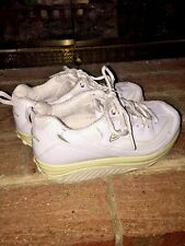 SKECHERS SHAPE UPS Leather WOMENS EXERCISE ATHLETIC WALKING TENNIS SHOES SZ 6 ❤️