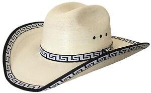 Authentic Sahuayo Region Mexico Palm Moreno Straw Premium Vaquero Cowboy Hat