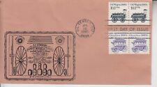 1985 #2130 OIL WAGON FDC POSTMARK CACHET #5 OF ONLY 11 MADE