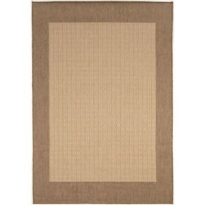 Couristan Recife Checkered Field Natural & Cocoa Indoor/Outdoor Rug
