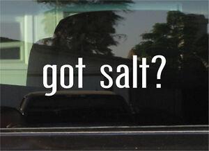 GOT SALT?  VINYL DECAL / STICKER