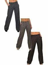 Unbranded Polyester Regular Size Wide Leg Trousers for Women