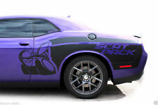 Vinyl Decal Rear Side Scat Pack Wrap Kit for Dodge Challenger 15-16 Matte Black