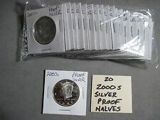 Silver Proof Kennedy Half Dollar-One Roll  2000 S