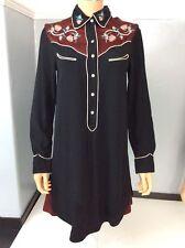 Isabel Marant Black Dress Size 36 Uk 8 Long Sleeve Vgc