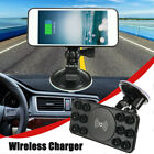 Qi Wireless Car Charger Pad Holder Cradle Mount Stand For Samsung S8 S7 S6 Note