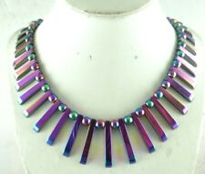 41pcs Beautiful Titanium Hematite pendant Gemstone beads Handmade necklace c1