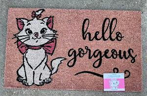 """Disney The Aristocrats Marie Hello Gorgeous Coir Doormat 18""""X30"""" Outdoor New"""