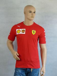 Puma Scuderia Ferrari Herren Vettel Replica Driver T-shirt 2019 Gr. XXL