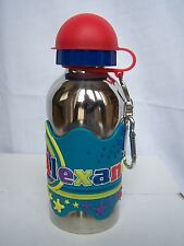Alexander Funky Named Metal Silicone Drinks Bottle Flask Container Thermos Blue