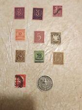 5 Mark 1935 G  HINDENBURG Third Reich German coin Silver 10  Swastika STAMP Lot