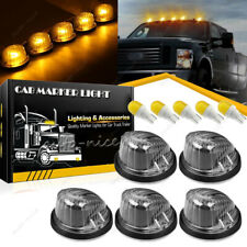 5PC Cab Clearance Light Marker Smoke Lens + Amber Yellow LED for 73-87 GMC Chevy