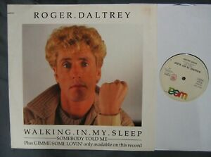 """ROGER DALTREY Walking In My Sleep / Gimme Some Lovin' +1 Italy 1984 UK 12"""" Who"""