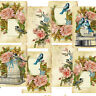 Vintage Card Toppers Birds, Roses Birdcage, scrapooking,cardmaking, Tags,Craft
