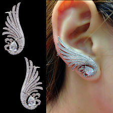 New Design Luxury Fashion Angel Wing Micro Pave Cubic Zirconia Ear Cuff Earring