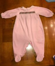 Vintage Little Me By Schwab 1986 Girls Pink Velour One-Piece Sz Large 18-21 Lbs