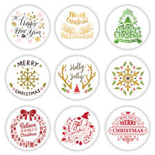 9 Merry Christmas Decor Stickers | Christmas Gift Card Present Labels | New Year