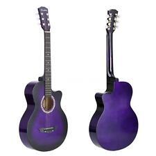 "38"" Acoustic Folk 6-String Guitar for Beginners Students Gift Purple G8V3"