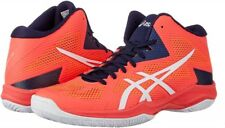 ASICS Men's V-SWIFT FF MT Mid Volleyball Shoes TVR491 Orange White With Tracking