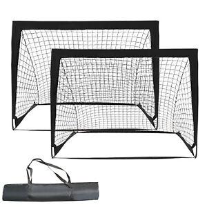2er Set Fußballtor klappbar Fußball-Tor mit Montagezubehör&Tragetasche