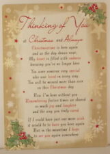 Memorial Grave Card Thinking of You at Christmas and Always 16.5cm x 12cm