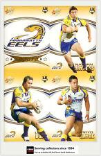 2007 Select NRL Invincible Trading Cards Base Team Set Eels (12)