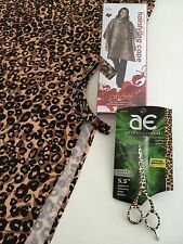 "FREE $90 Oster-Arius Eickert LEOPARD 5.5"" Shear w/Salon Styling-Haircutting Cape"