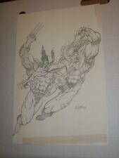 WOLVERINE VS SABRETOOTH Jose 1993 Sketch Original Comic Art Page