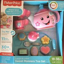 New Fisher Price Laugh & Learn Sweet Manners Tea Set 30+ Sounds Songs & Phrases