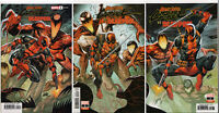 ABSOLUTE CARNAGE vs. DEADPOOL #1,2,3 ROB LIEFELD CONNECTING COVER SET ~ Marvel