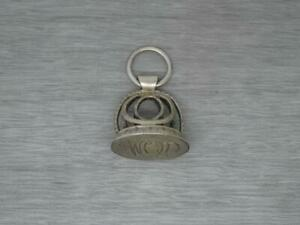 Rare Antique Early 19th century German or Dutch 800 Silver Seal Fob & Split Ring