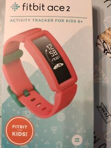 Fitbit Ace 2 Activity Fitness Track SmartWatch - Watermelon/Teal Kids