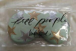 Free People Understated Leather Mint Starry Eyed Travel Eye Mask - Used