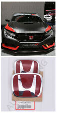 RACING SET Red H Emblem 2PCS Front & Rear For 06-15 HONDA CIVIC SEDAN EX LX SI