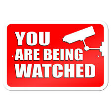 "You Are Being Watched Video Surveillance 9"" x 6"" Metal Sign"