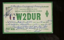 GB QSL (Ham Radio) Postcard 1957 W2DUR Llanelly, Wales to Morton Grove,