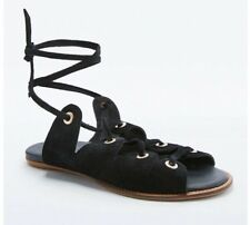 Urban Outfitters Bonnie Sandals Size 8 Women's Black Lace Up Rivet Sandals EUC