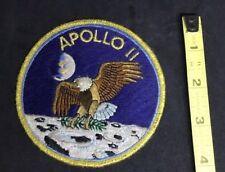vintage APOLLO II (2) NASA ASTRONAUT UNIFORM PATCH original VERY NICE EAGLE wow