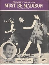 Must Be Madison Sheet Music Piano Solo Featured by Lionel Blair : Jack Woodman