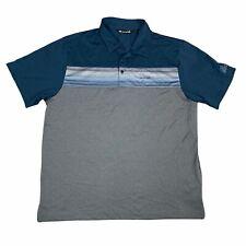 Travis Mathew Polo Shirt Mens Extra Large Gray Blue Golf Golfing Casual Adult