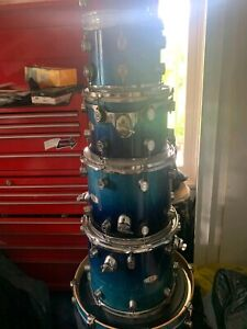 PDP by DW BLUE X7 DRUM KIT. SHELLS ONLY. MAPLE. In good condition.